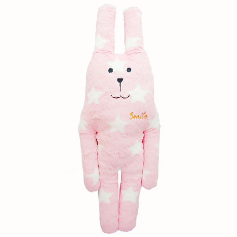 Smile,Pink,Star,Rab,Small,Craftholic, Rab, Rabbit, Stars, Plush toy, Hug Cushion, Cuddle Cushion, Japan, Kawaii, pink, Kids toys, Soft Toy, bedtime buddy
