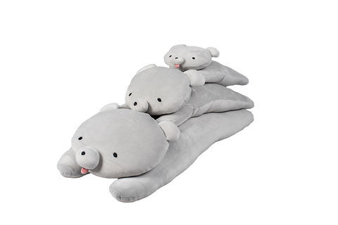 Mochikuma,Grey,Hugging,Cushion,Medium, Grey bear, grey, cuddle cushion, hug cushion, soft bear, grey bear, plush toy, new baby, baby gift