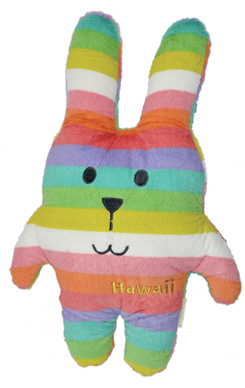 Hawaii,Rab,Hug,Cushion,(Medium),kawaii, cute, stripe, stripy, rainbow, rabbit, tab, hippy, peace, love, fun, japanese, accent, hawaii, palm tree, hibiscus, tropical, holiday, vacation, craftholic, craft, plush, soft toy, plain, soft, polyester, kids, children, bright, colourful, m