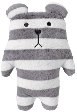 Standard,Sloth,Bear,Hug,Cushion,(Medium),kawaii, cute, cuddly, stripes, stripy, bear, grey, love, fun, japanese, accent, hawaii, palm tree, hibiscus, tropical, holiday, vacation, craftholic, craft, plush, soft toy, plain, soft, polyester, kids, children
