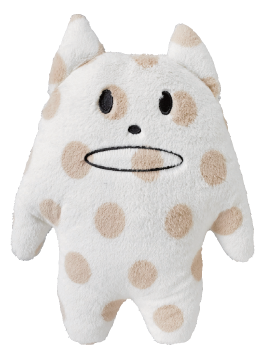 Standard,Korat,Cat,Hug,Cushion,(Medium),kawaii, cute, kitty, standard, beige, spots, white, cat, korat, love, fun, japanese, accent, hawaii, palm tree, hibiscus, tropical, holiday, vacation, craftholic, craft, plush, soft toy, plain, soft, polyester, kids, children