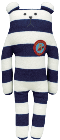 Surf,Sloth,Bear,Soft,Hug,Toy,(Small),accent, surf, stripy, craftholic, craft, plush, soft toy, breton, stripes, bear, sloth, surfer, sea, japanese, kawaii, kids, children, large, pillow