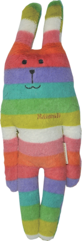 Hawaii,Rab,Soft,Hug,Toy,(Small),kawaii, cute, stripe, stripy, rainbow, rabbit, tab, hippy, peace, love, fun, japanese, accent, hawaii, palm tree, hibiscus, tropical, holiday, vacation, craftholic, craft, plush, soft toy, plain, soft, polyester, kids, children