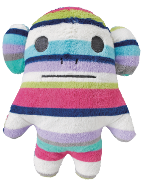 Standard,Loris,Monkey,Hug,Cushion,(Medium),kawaii, cute, stripes, multi coloured, monkey, loris, love, fun, japanese, accent, hawaii, palm tree, hibiscus, tropical, holiday, vacation, craftholic, craft, plush, soft toy, plain, soft, polyester, kids, children