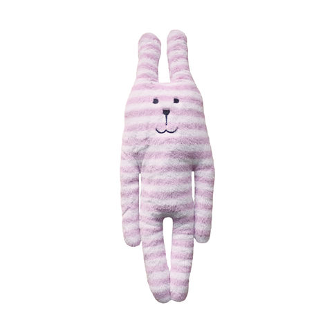 Pink,Stripe,Rab,Soft,Hug,Toy,(Small),soft toy, plush, cute, cuddly, kawaii, pink, white, stripes, stripy, candy, cane, new baby, girl, rabbit, bunny, rab, love, fun, japanese, accent, hawaii, palm tree, hibiscus, tropical, holiday, vacation, craftholic, craft, soft toy, plain, s
