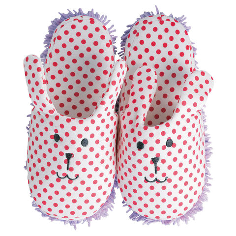 Rab,Slippers,(Adults),mop slippers, rab, craftholic, sloth, cotton, korat, cat, animal, stripy, spotty, cute, kawaii