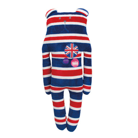 Rock,Sloth,Bear,Hug,Cushion,L,soft toy, stripy, rock, british, union jack, bear, sloth, accent, peace, love, cute, fun, japanese, holiday, vacation, craftholic, craft, plush, soft toy, plain, soft, polyester, kids, children, red, white, blue, cushion, hug