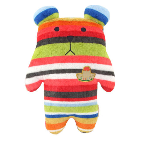 Mexico,Sloth,Bear,Hug,Cushion,(Medium),kawaii, cute, soft, cuddly, stripy, mexico, sombrero bear, sloth, peace, love, fun, japanese, accent, hawaii, palm tree, hibiscus, tropical, holiday, vacation, craftholic, craft, plush, soft toy, plain, polyester, kids, children