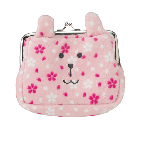 Japan,Rab,Soft,Plush,Coin,Purse,(One,Size),purse, pouch, craftholic, rab, pink, spotty, sakura, cherry, blossom, japan, kompeitou, bunny, rabbit, plush