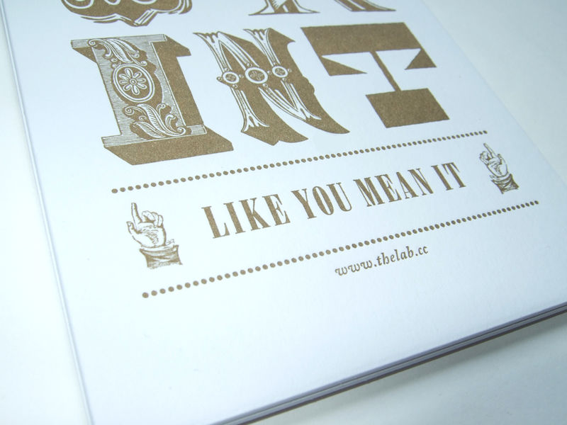 Print Like You Mean It ~ Letterpress print - product images  of