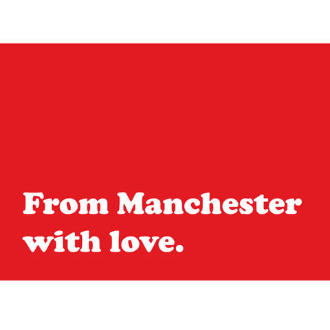 From,Manchester,with,Love,postcard,typography, Manchester city, Manchester united, football, Manchester postcards, postcard, print, type, Manchester, printmaking, printing