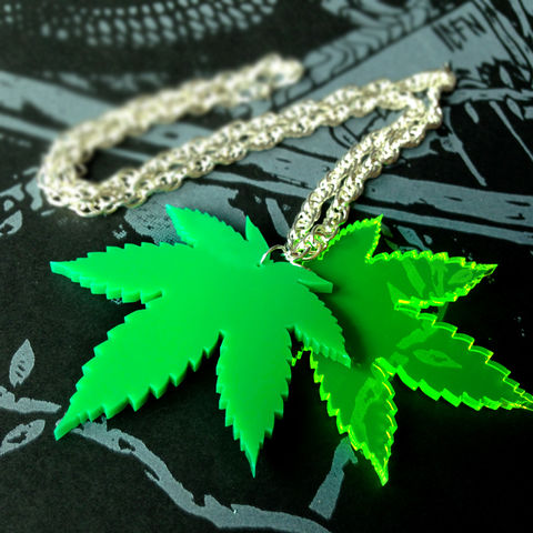 Toke,-,Leaf,necklace,double