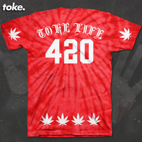 Toke,-,BLACK,or,RED,SWIRL,X,Tee