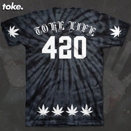 Toke - BLACK or RED SWIRL X - Tee  - product images  of