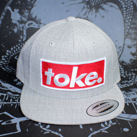 Toke,-,Heather,Grey,Snapbacks