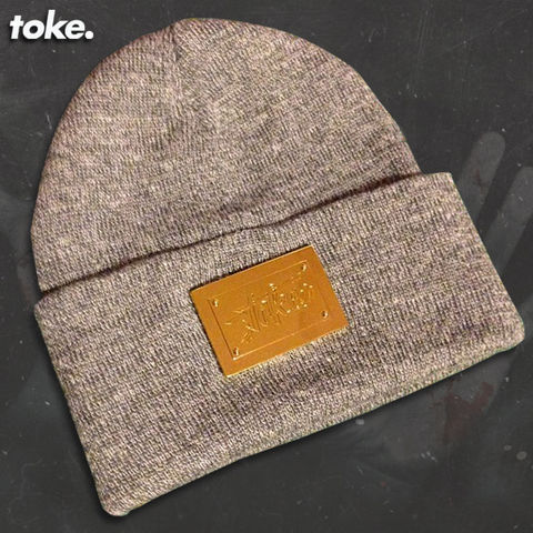 Toke,-,Golden,Plaque,Beanies.
