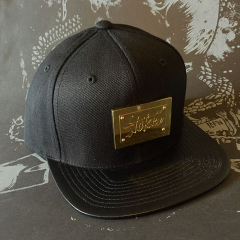 Toke,-,Gold,&,Black,Leather,Brim,Snapback