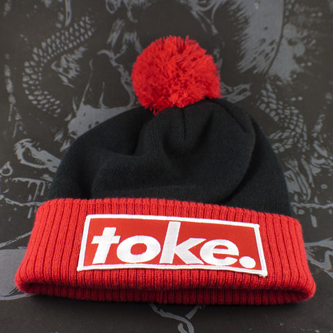 Toke,-,Black,&,Red,Bobble,Hat