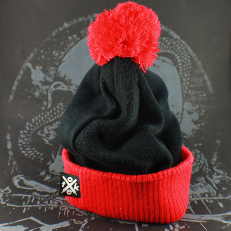 Toke - Black & Red Bobble - Hat - product images  of