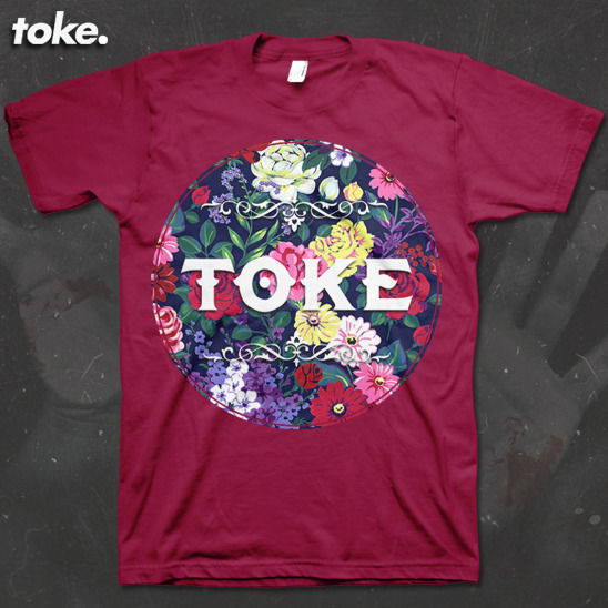 Toke - Floral - Tee OR Vest - product images  of