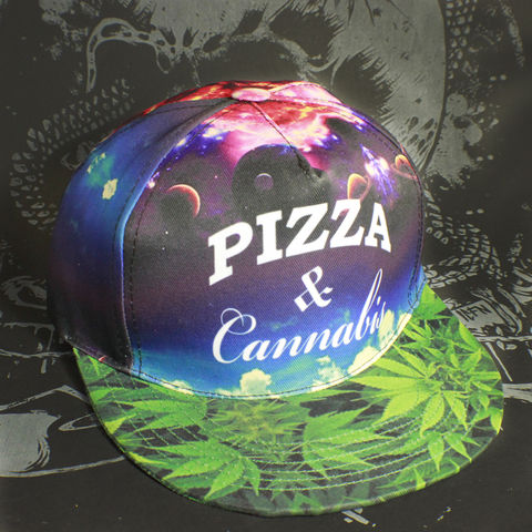 Toke,-,PIZZA,WEED,allover,print,Snapback,Toke - PIZZA WEED allover print - Snapback