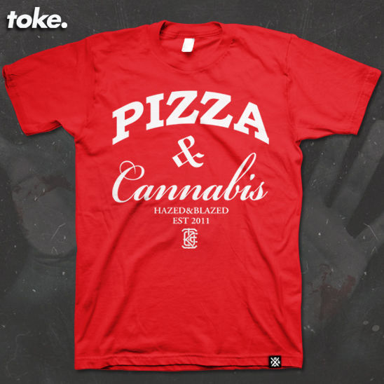 Toke - PIZZA WEED- Tee - product images  of
