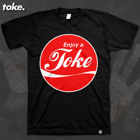 Toke,-,ENJOY,A,TOKE,Tee,Toke - ENJOY A TOKE - Tee