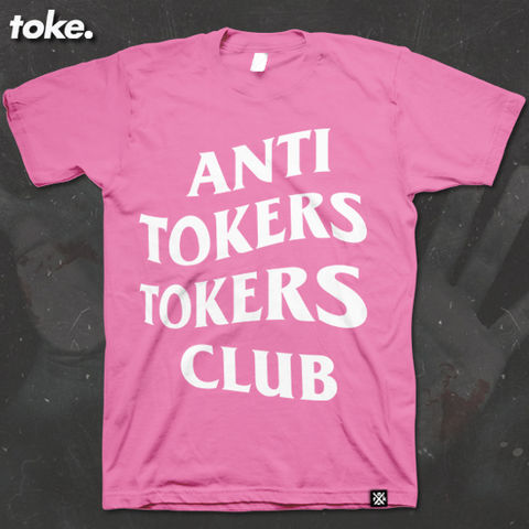 Toke,-,ANTI,TOKERS,CLUB,Tee,Toke - ANTI TOKERS TOKERS CLUB - Tee