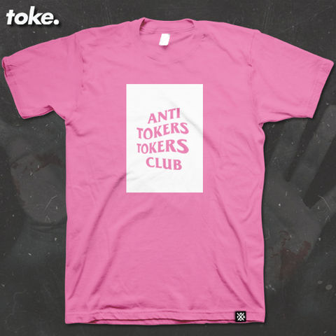 Toke,-,ANTI,TOKERS,CLUB,BOX,Tee,Toke - ANTI TOKERS TOKERS CLUB - BOX Tee