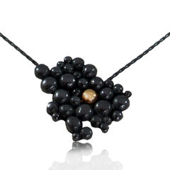 Black & Gold Molecular Necklace - product images  of