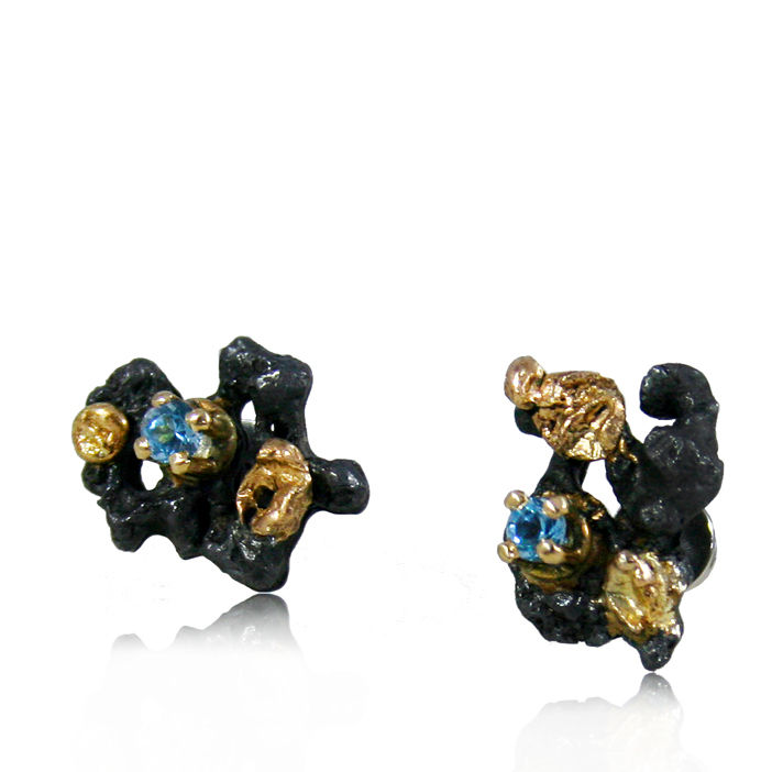 Scoria Earrings (different stones to choose) - product images  of