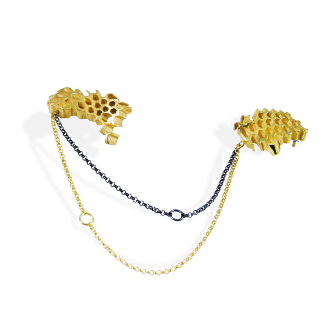 Honeycomb Double Brooch - product image