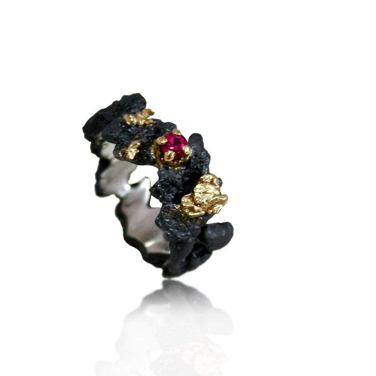 Scoria Ring (different stones to choose) - product images  of