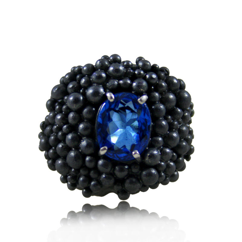 Big Molecular Ring with Topaz - product images  of