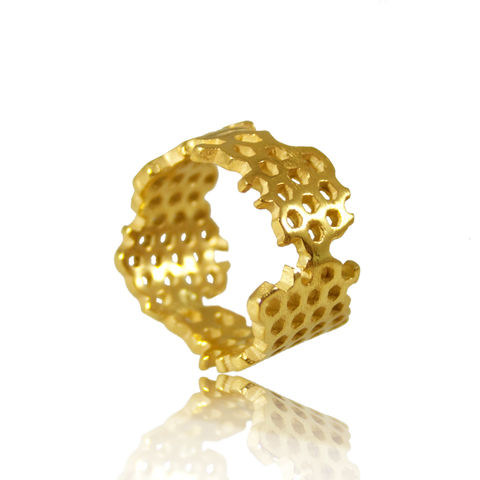 Honeycomb,Ring,gold, 14k,ring, artisan, ring, jewellery, handmade, honeycomb, unique