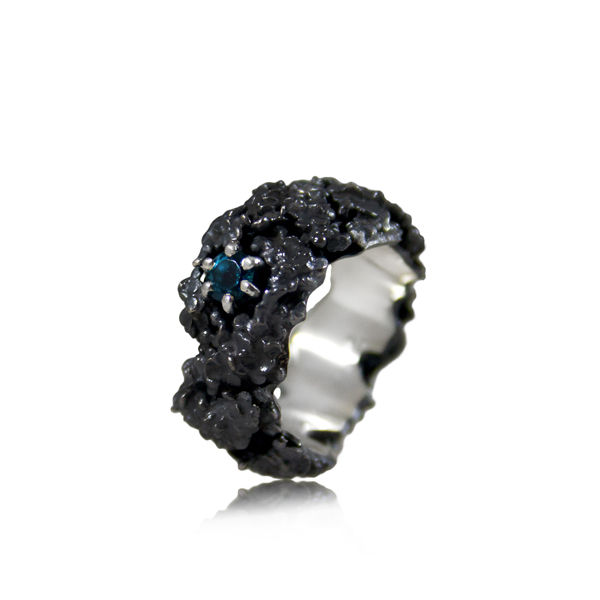 Amaranth Ring Black (different stones to choose) - product images  of