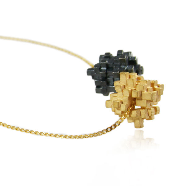 Tetris Double Cube Necklace (Different colors) - product images  of