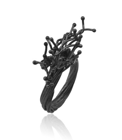 Unique,Kulfik,Ring,kulfik , flower ring, plant ring, vegan ring, nature ring, silver ring