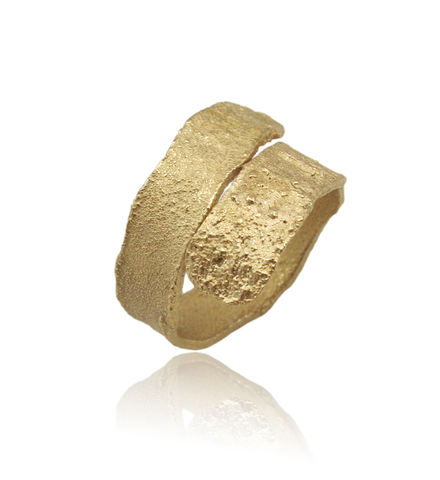 Algae,Ring,Gold,algae ring , wedding band, texture ring, nature ring, vegan ring