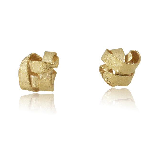 Algae Earrings Gold - product images  of