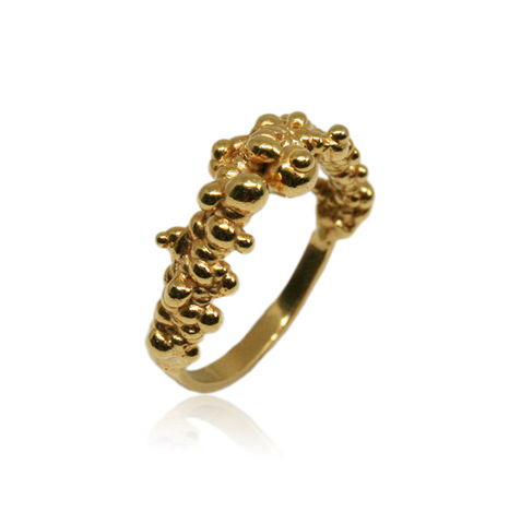 Mammatus,ring,Gold,cloud ring, silver ring, delicate ring, subtle ring,