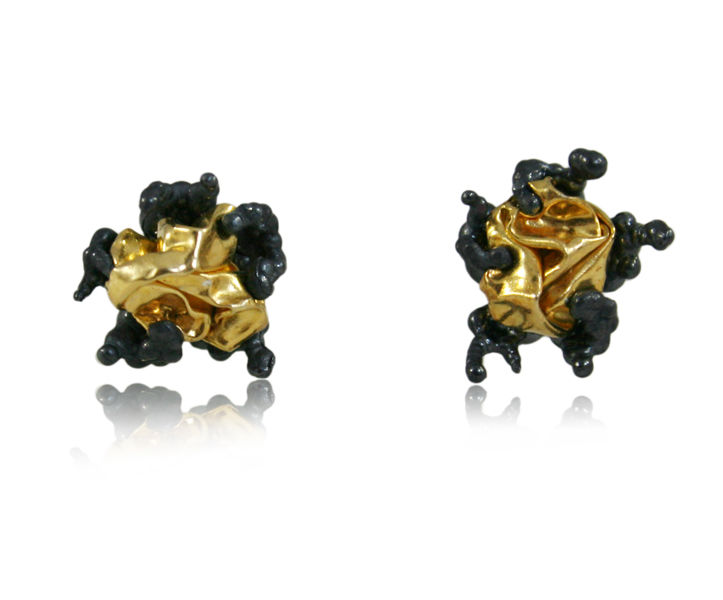 Naphta Earrings Black & Gold - product images  of