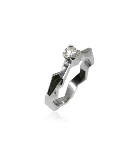 Geometry,ring,in,14k,White,Gold,and,0,25ct,diamond,diamond ring, engagement ring, godl ring, white gold ring , unique ring