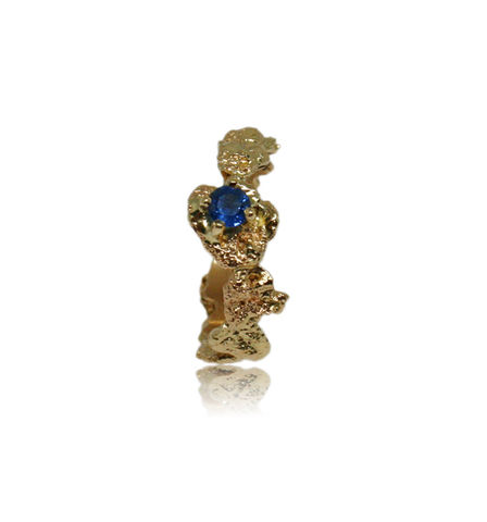 Out,of,the,Sea,Ring,in,14k,gold,with,0,3,carat,sapphire, 18k, brilliant, diamond, ring, artisan, jewellery, handmade, sapphire ring