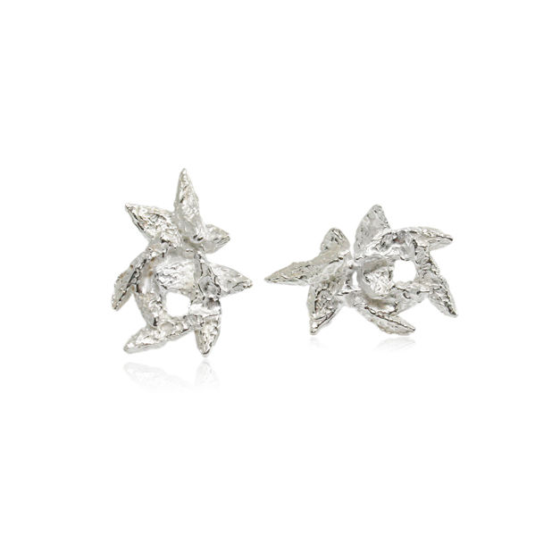 Flake Earrings Silver - product images  of