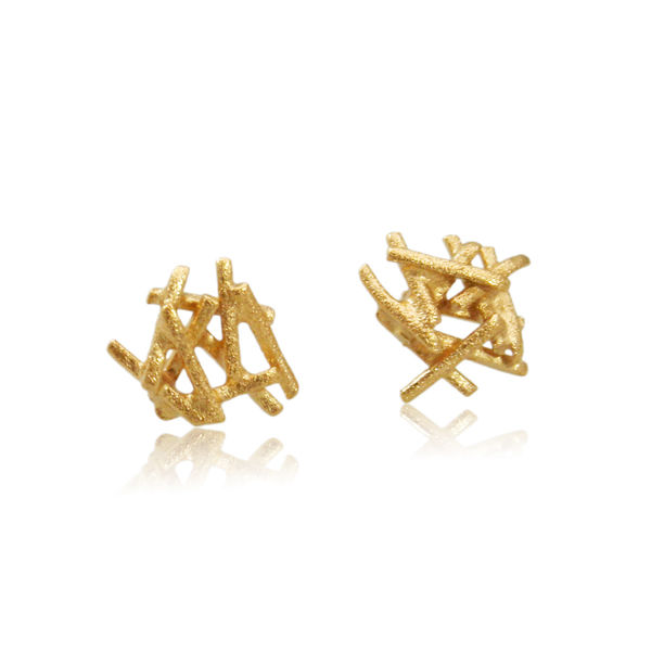 Nest  Earrings Gold - product images  of