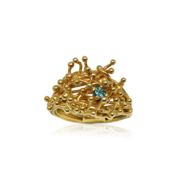 Kulfik Ring Gold With Blue Topaz - product images  of