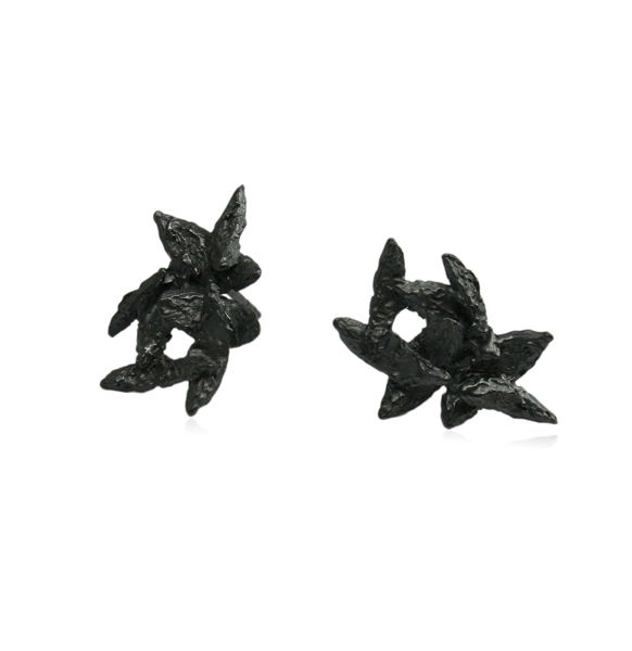 Flake Earrings Black - product images  of