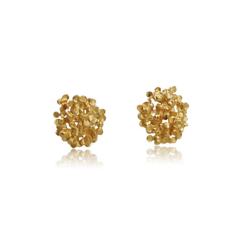 Amaranth,Earrings,Gold,gold earrings, flower earrings, flower jewellery, amaranth , flower