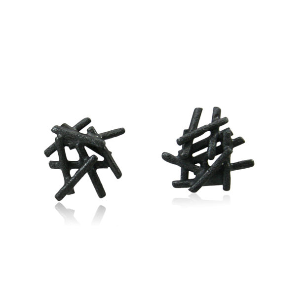 Nest  Earrings Black - product images  of